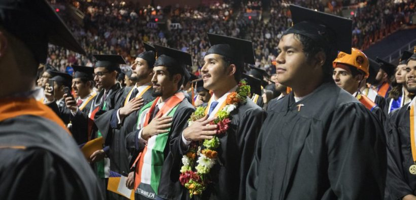 University of Texas at El Paso graduates celebrate at the 2018 winter commencement.  |   Photo courtesy of UTEP