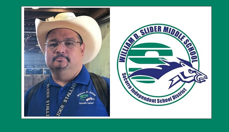 Omar Varela, a Career and Technical Education teacher at William D. Slider Middle School  | Photo courtesy SISD