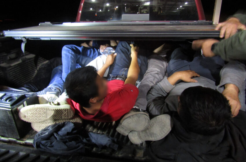 Border Patrol agents find immigrants crammed into small trailer, truck bed