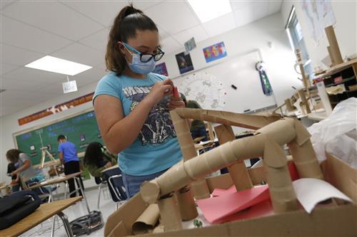 Richardson International Baccalaureate students build model rollercoasters