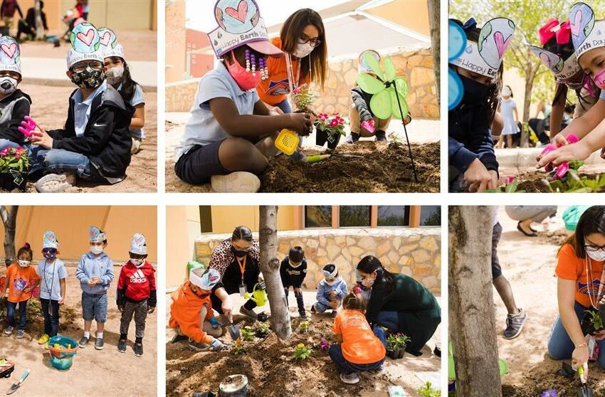 Ituarte Elementary students beautify school with flowers, learn about caring for environment