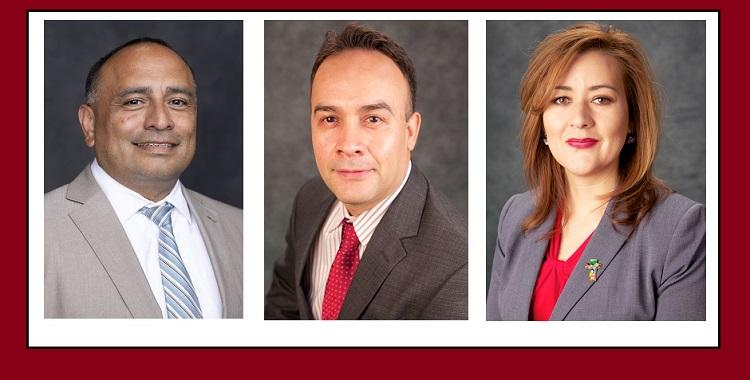 "Javier Salgado, Jose Perez, and Laura ""Judy"" Calderon  | Photos courtesy YISD"