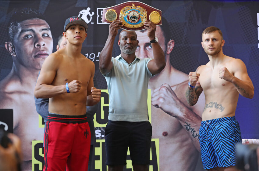 Gallery: Weigh Ins for Saturday's Munguia vs Szeremeta boxing bouts