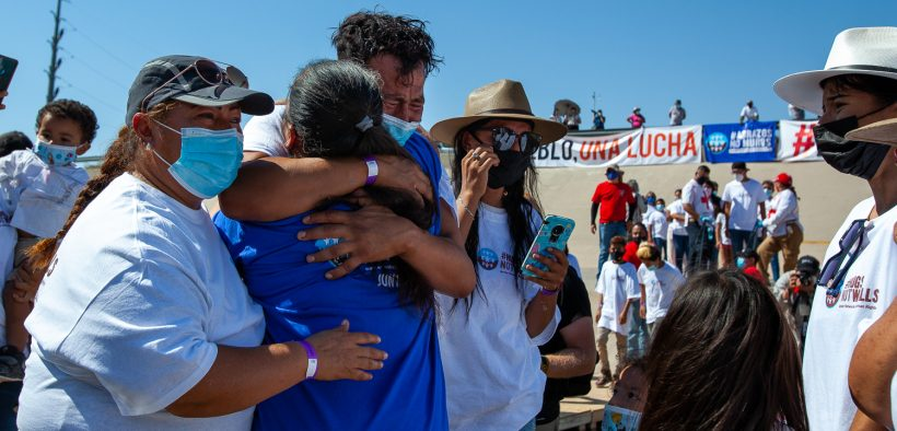 In the middle of the Rio Grande, separated families reunite for 3 minutes