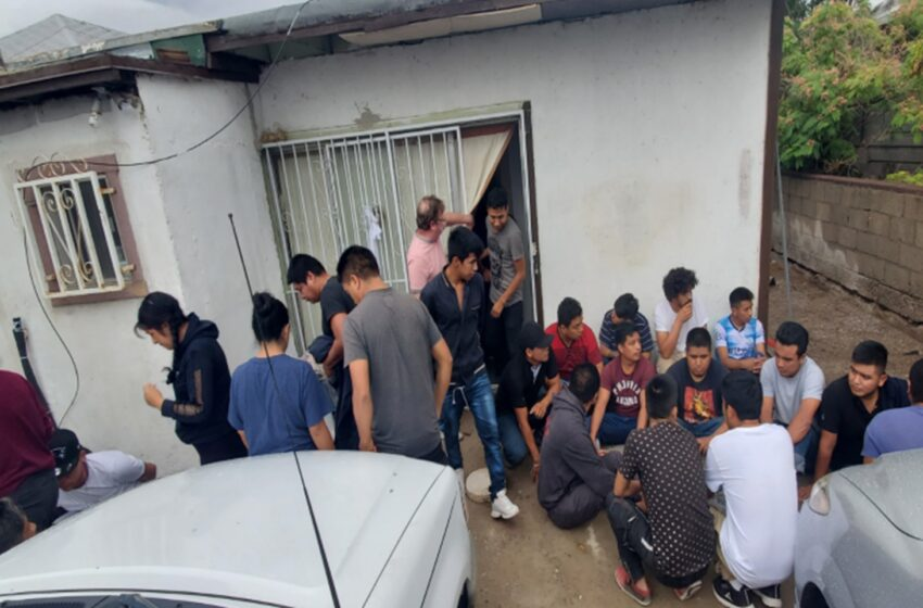 Border Patrol Agents find area home jammed with migrants