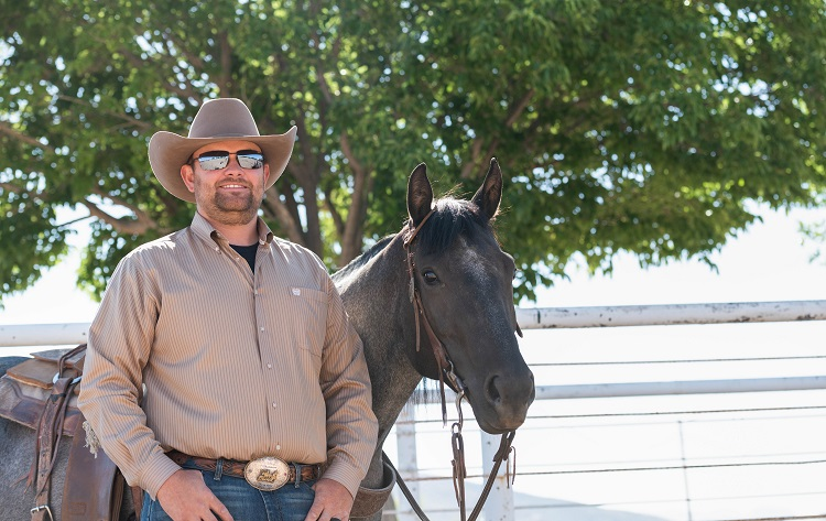 Brice Baggarley began serving as the head coach of the New Mexico State University rodeo team in May. |  NMSU photo by Josh Bachman