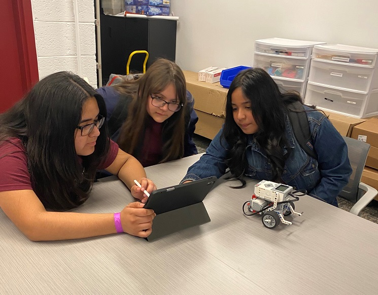 A group of New Mexico State University College of Education staff members started the STEM Sisterhood in November 2019 part of the Chaparral Outreach Program. The program encourages seventh- and eighth-grade girls to explore careers in science, technology, engineering and math, and potentially enroll at NMSU after graduating high school. | Photo courtesy NMSU