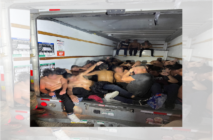 Big Bend Sector Border Patrol Agents save 33 migrants from sweltering box truck