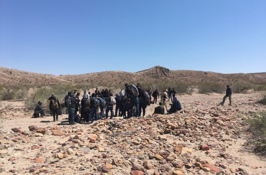Agents apprehend large group of undocumented migrants near Valentine