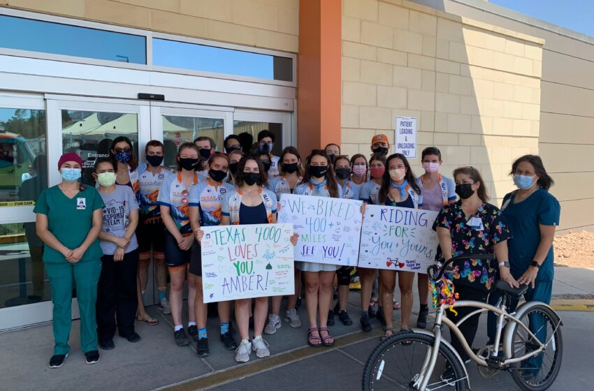 Cyclists raising awareness for cancer visit Providence Children's Hospital
