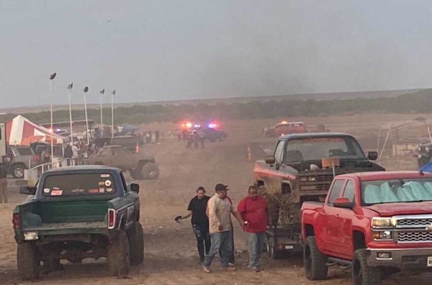 UPDATE: 1 dead, 8 injured after 'Mud Bog' Dragster strikes spectators at Fabens-area event Sunday