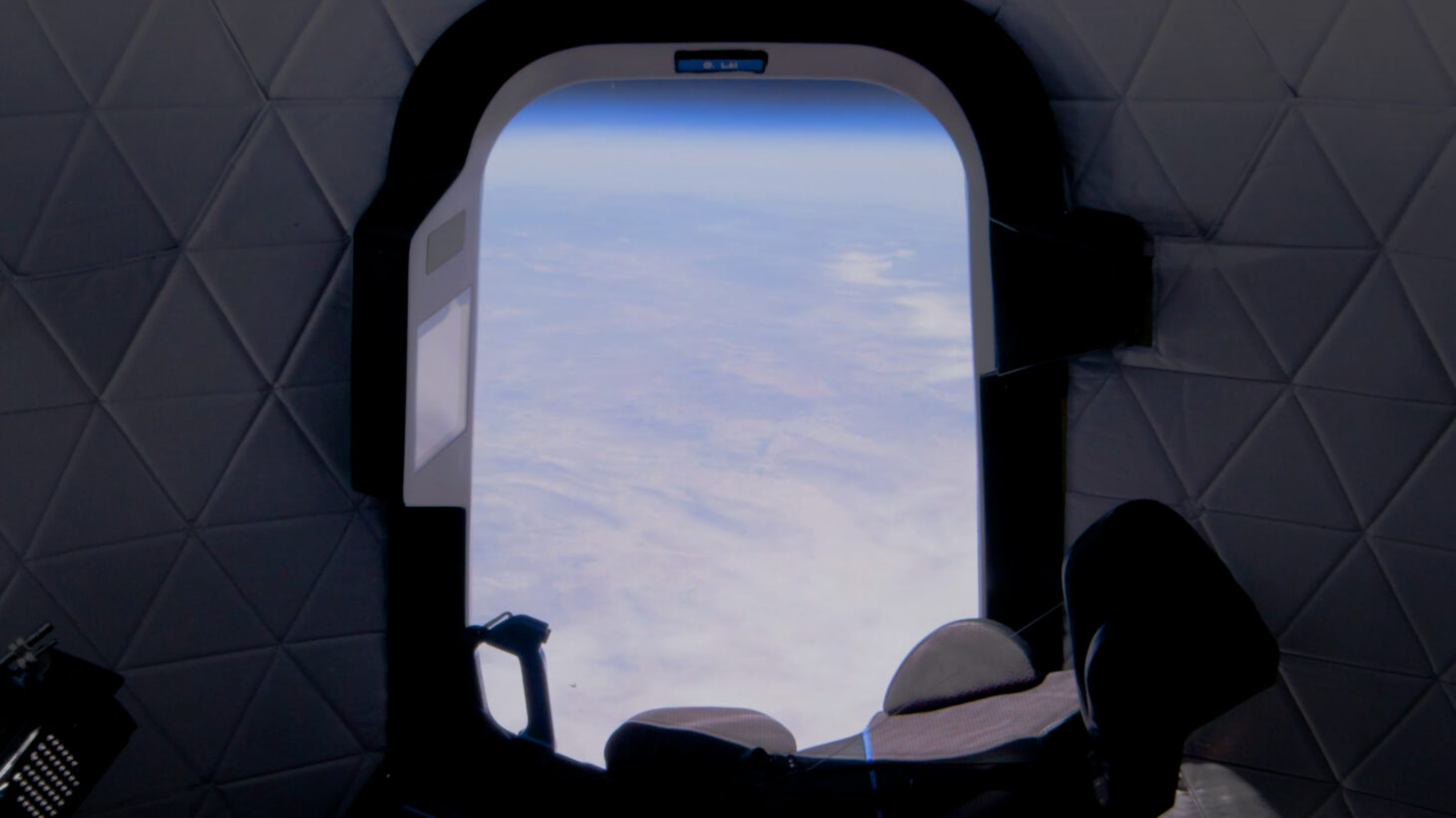 View from the window of New Shepard, during a test flight | Photo courtesy Blue Origin