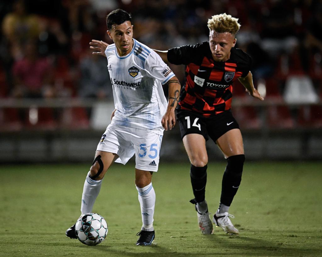 El Paso Locomotive FC plays San Antonio FC during a USL Championship soccer match on Wednesday, July 28, 2021, at Toyota Field in San Antonio. El Paso won 2-1. | Photo by Darren Abate/USL Championship