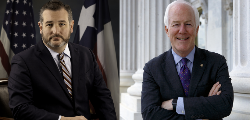 Senators Ted Cruz and John Cornyn  | Photo courtesy El Paso Matters