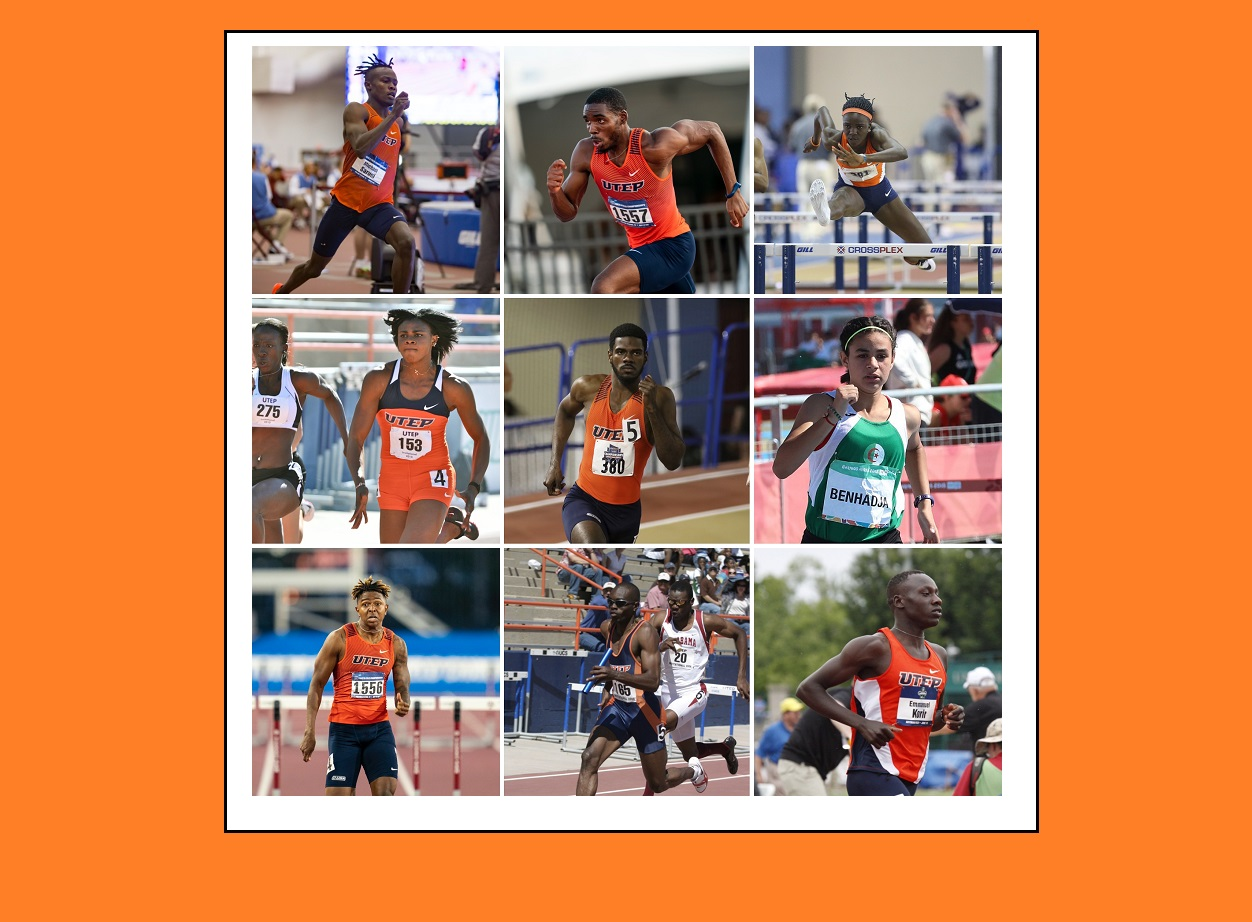 Several past, present and future student-athletes from UTEP's track and field program will represent their home countries at the Summer Olympics in Tokyo, and for some, this isn't their first Olympic appearance.  | Photos courtesy UTEP Athletics