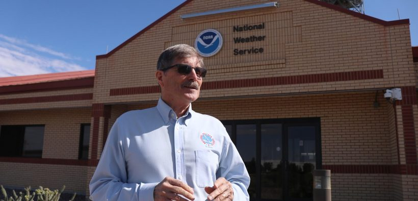 ohn Fausett is retiring from the National Weather Service after decades of providing forecasts for the El Paso region. |   Danielle Prokop/El Paso Matters