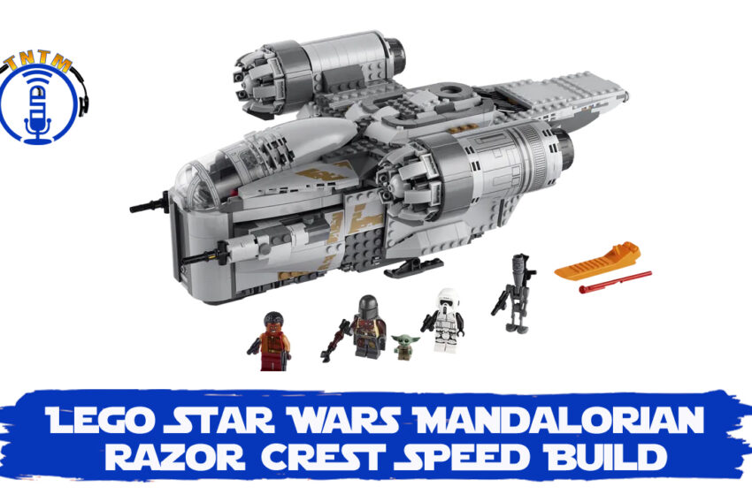 VLog: TNTM's Troy unbox & speed build Lego Star Wars Mandalorian Razor Crest