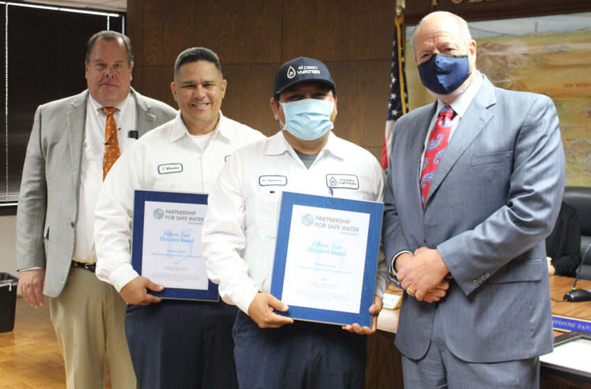 El Paso Water honored with 2020 Award of Recognition; 15 years Outstanding Performance