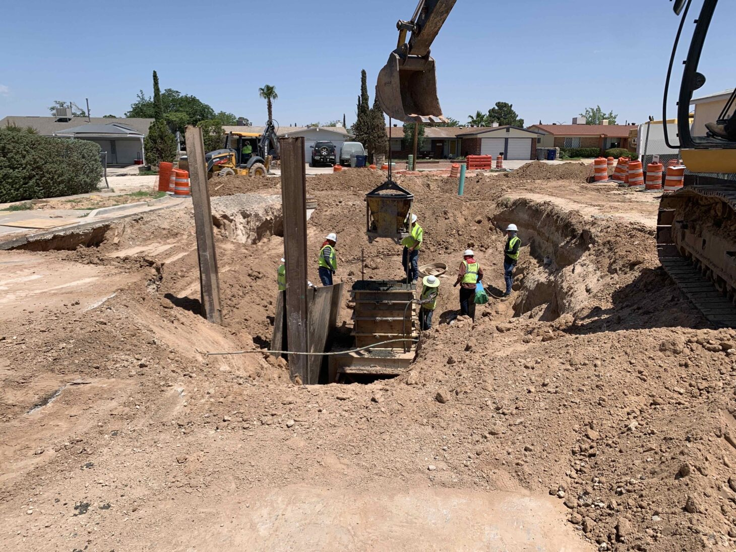 EPWater crews work on the Sam Sneed project in East El Paso  | Photo courtesy EPWater