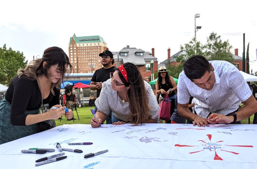 """Community invited to sign """"In Remembrance/En Recuerdo"""" fabric mural honoring August 3rd victims"""