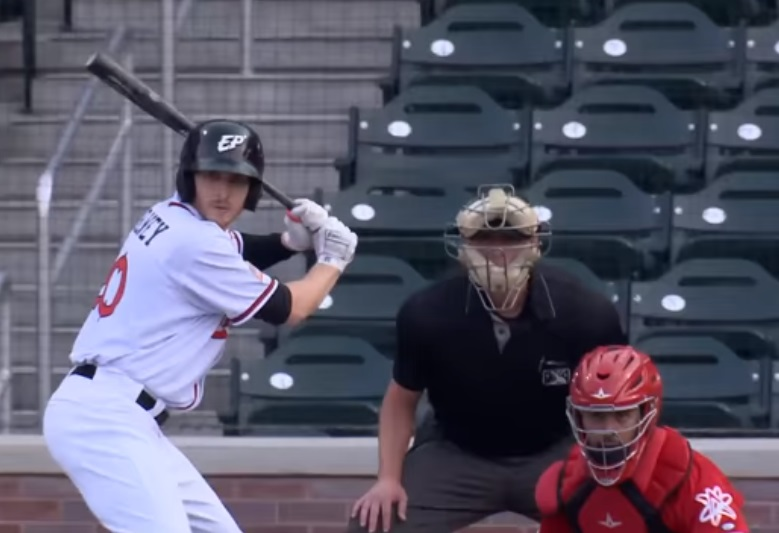 Taylor Kohlwey hit three triples on the night for the Chihuahuas.  | Clip courtesy EP Chihuahuas