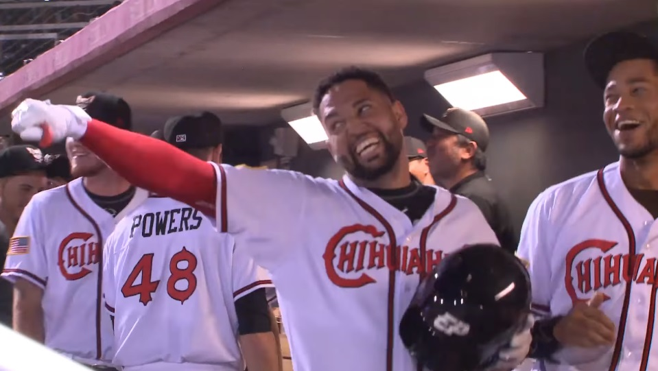 All Smiles! In his first AB back in El Paso, Webster Rivas hits a pinch-hit go-ahead HR that ended up being the game winner. | Clip courtesy EP Chihuahuas