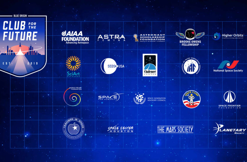 Blue Origin's 'Club for the Future' selects 19 space-based charities to receive $1m grant each