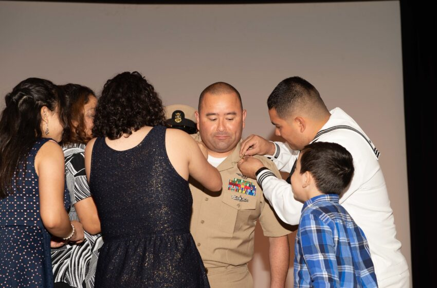 El Paso native receives promotion while assigned to USS John C. Stennis