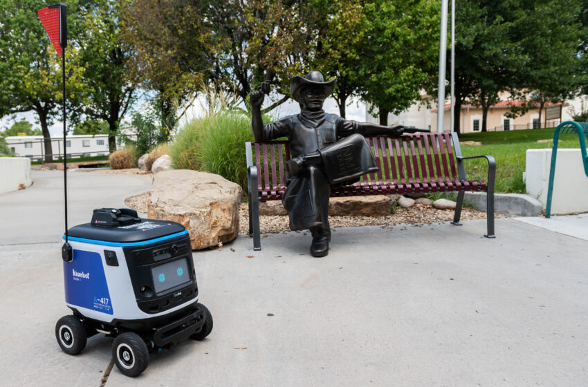 The robots have landed: Kiwibot delivering fast, hot food to NMSU campus community
