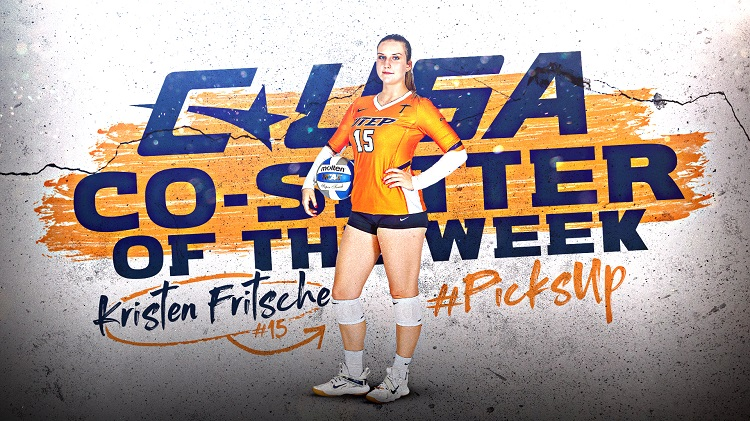 UTEP Volleyball's Kristen Fritsche named C-USA Co-Setter of the Week