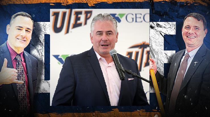 Kevin Baker, Jim Senter, Joe Golding all received contract news on Thursday.  | Photos courtesy UTEP