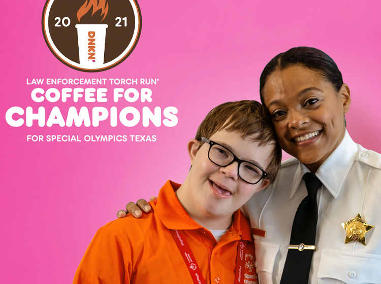"""Area Dunkin' launches """"Coffee for Champions;"""" Free Donut Fundraiser benefitting Special Olympics Texas"""