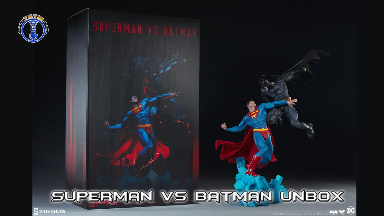 superman vs batman statue