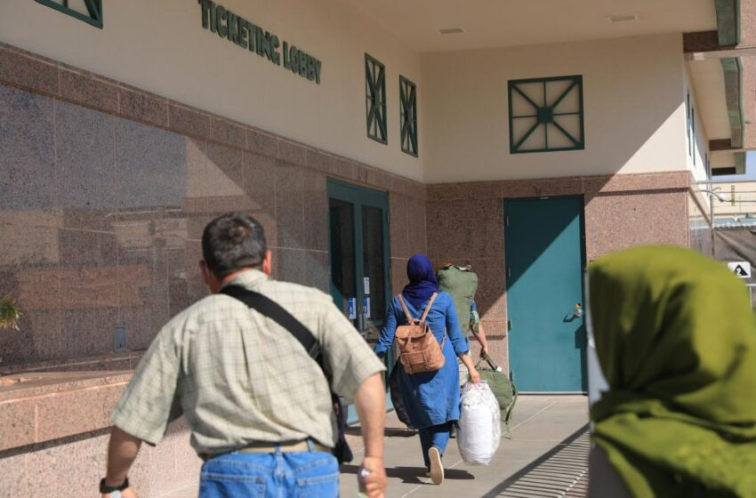 First groups of Afghan evacuees begin departing from Fort Bliss Doña Ana Complex