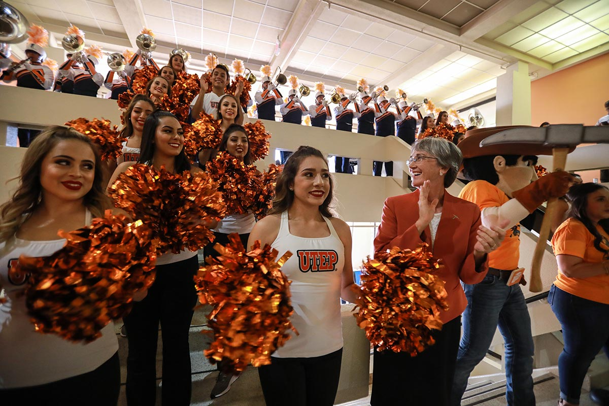 UTEP invites alumni, students and friends to participate in Homecoming Week activities Sept. 26-Oct. 2. It is the first time the University has hosted on-campus Homecoming events since 2019. Photo: J.R. Hernandez / UTEP Communications