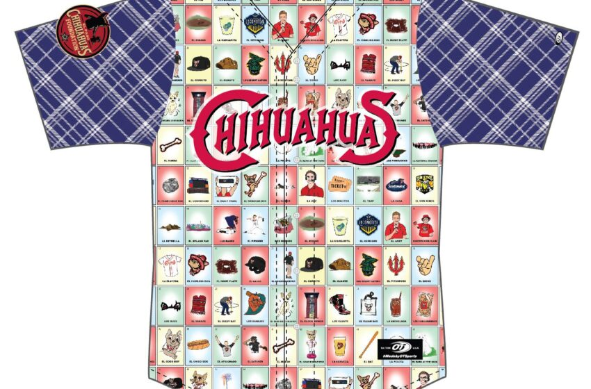 Chihuahuas unveil GECU Bark at the Park ¡Lotería! Jerseys