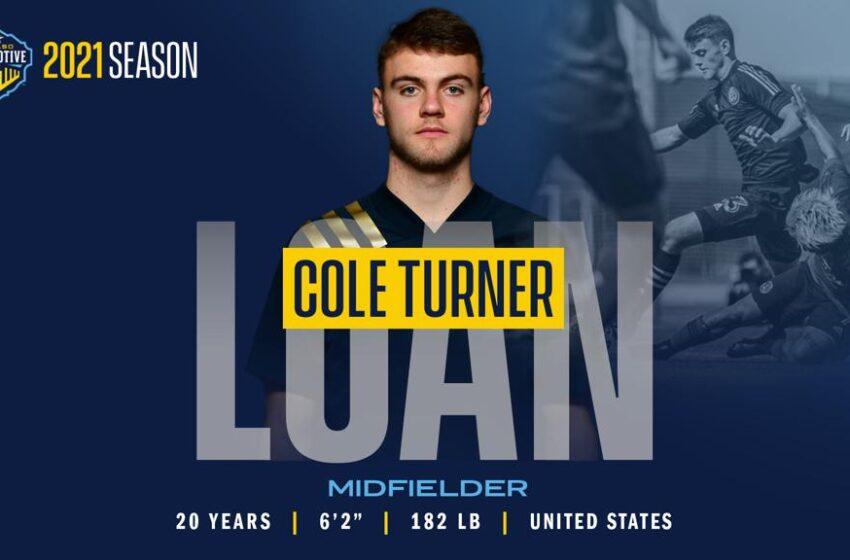 All Aboard! Locomotive sign Midfielder Cole Turner on loan from MLS Side Philadelphia Union