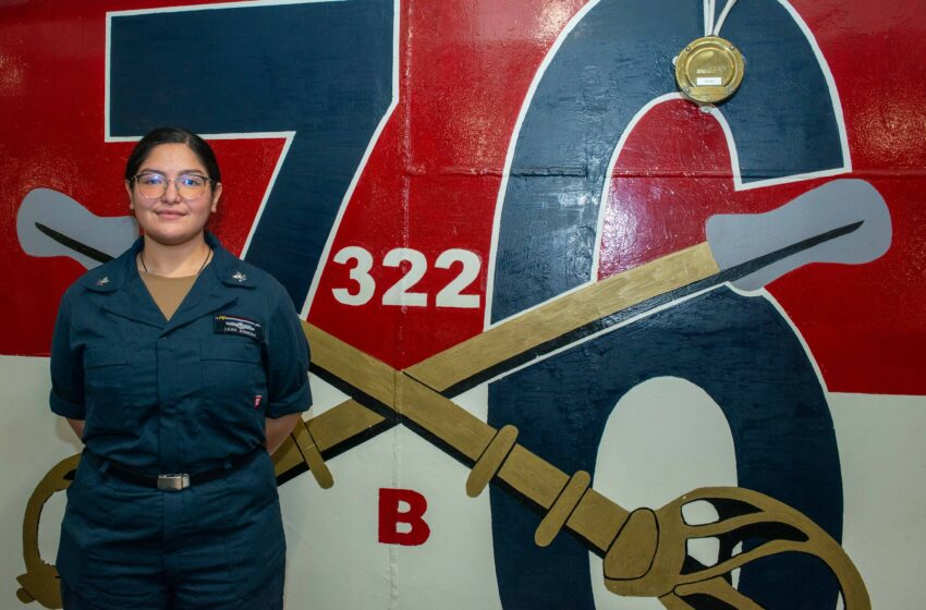 El Paso native supports Task Force 58 aboard USS Ronald Reagan