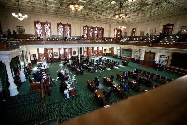 The Senate floor on Jan. 13, 2021. Credit: Miguel Gutierrez Jr./The Texas Tribune