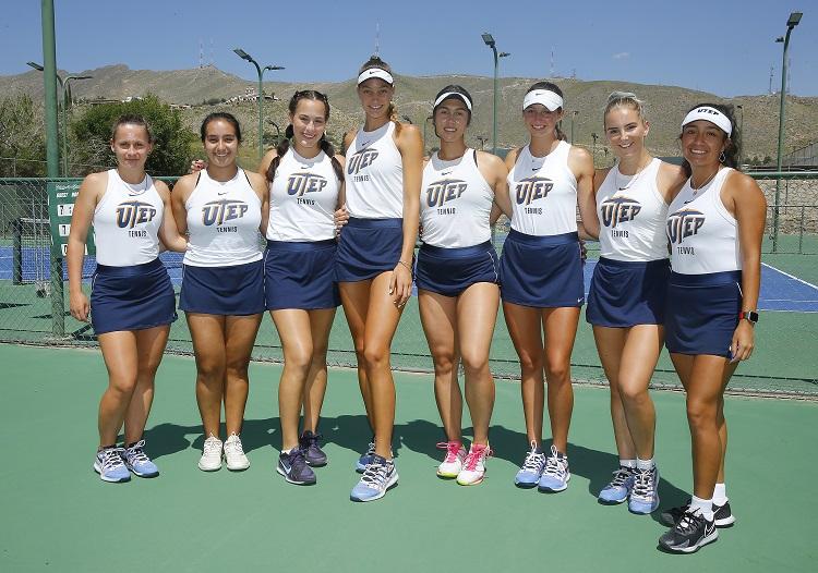 UTEP Tennis Team | photo by Ruben R. Ramirez