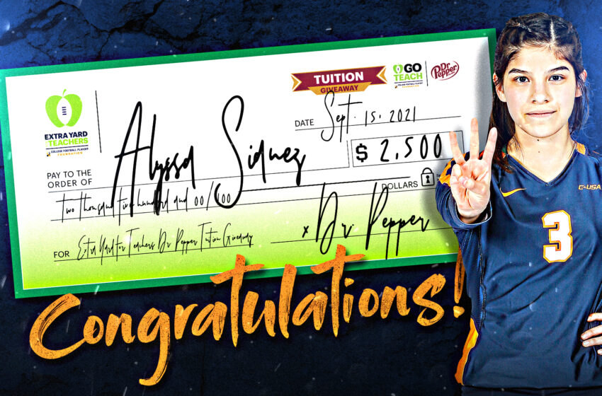 UTEP Volleyball's Alyssa Sianez awarded $2,500 in tuition from College Football Playoff Foundation, Dr. Pepper