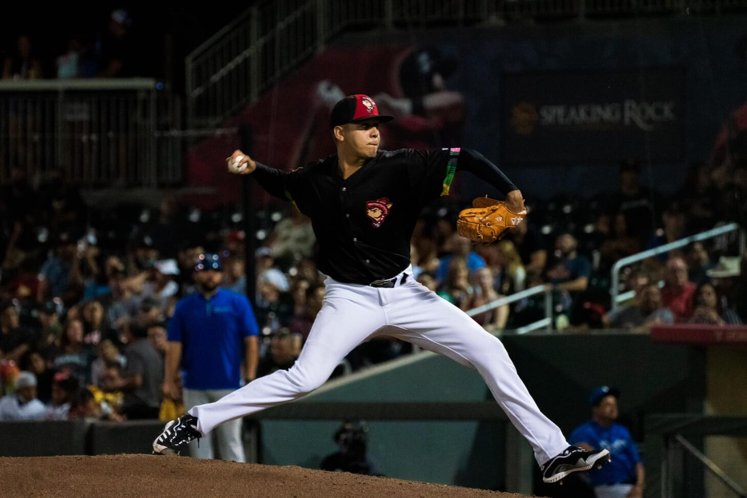 Career night for Adrian Martinez, who had 10 Ks to tie a career high and set a Triple-A career high  |  Photo courtesy EP Chihuahuas