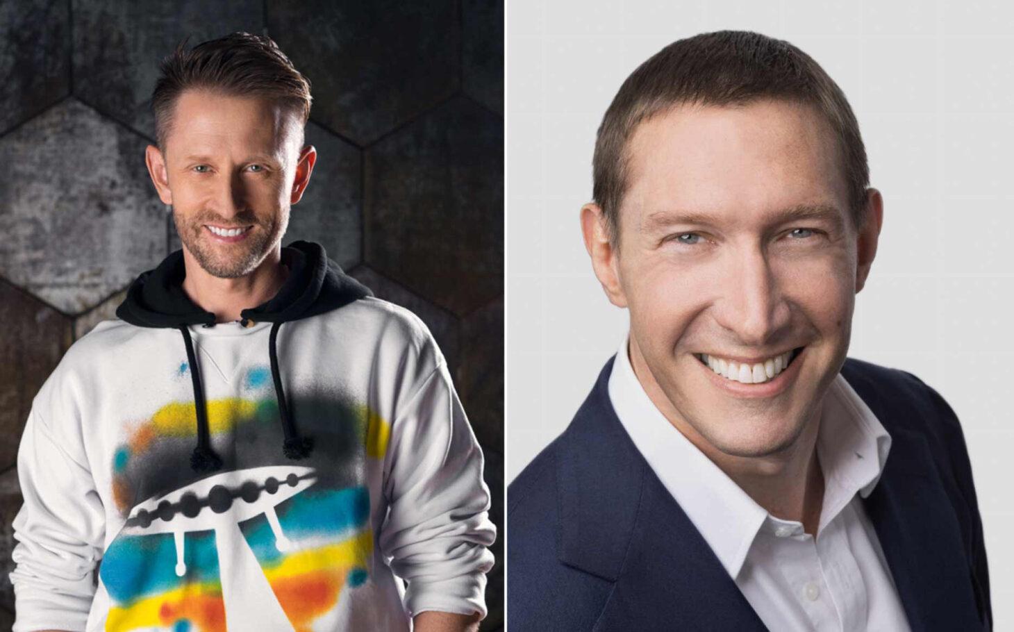 Chris Boshuizen (left) and Glen de Vries (right) | Photo courtesy Blue Origin