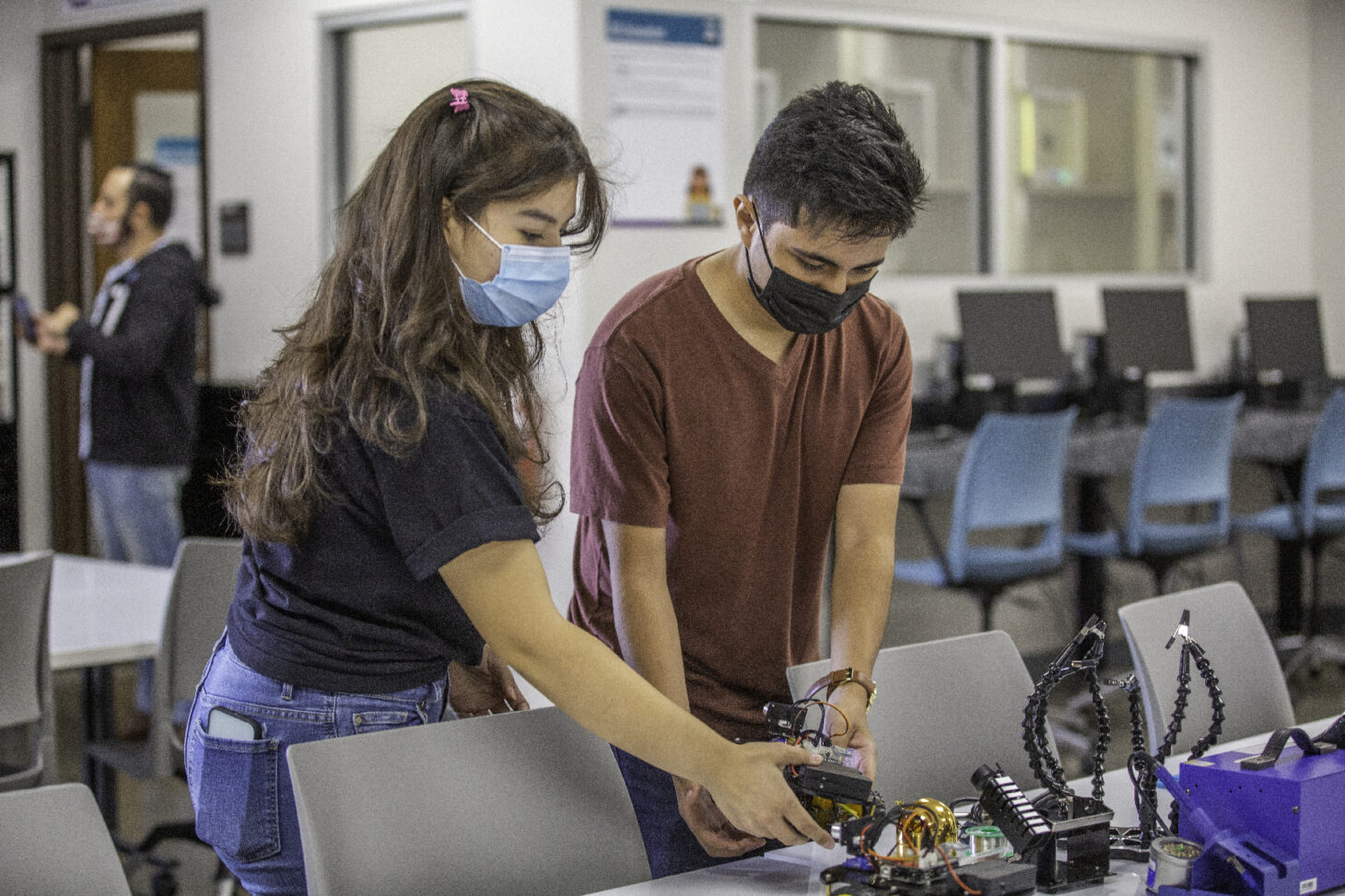 Students/Lab Assistants Cristian Gutierrez and Angel Soto