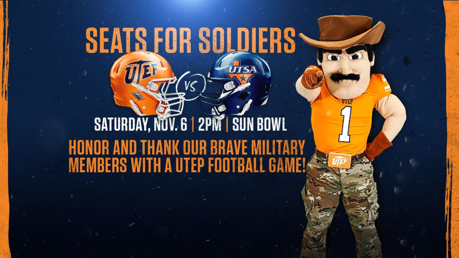 UTEP Seats for Soldiers