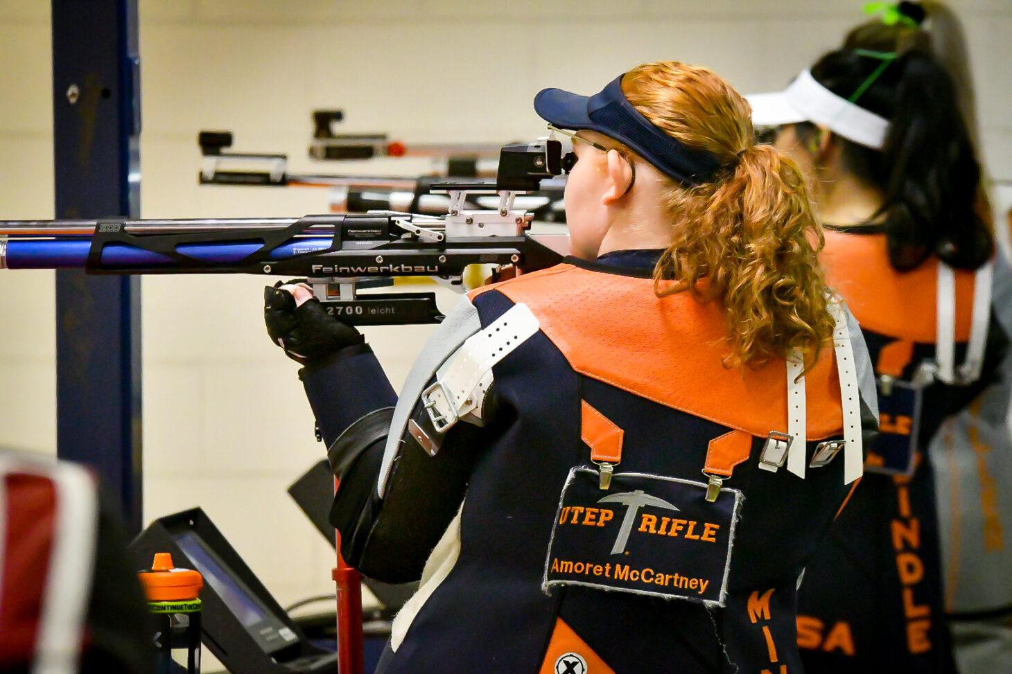 UTEP Rifle vs Nebraska Rifle Oct 9, 2021 El Paso,  |  Photo by Andres Acosta – UTEP