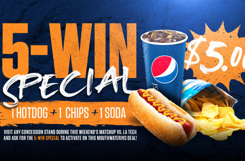"""UTEP selling """"Five-Win"""" combo meals for $5 at Saturday's Football Game"""