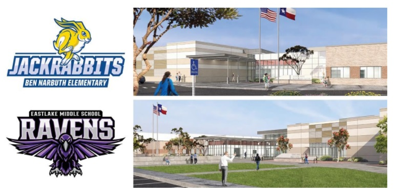 New Socorro ISD schools named Eastlake Middle, Ben Narbuth Elementary